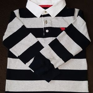 GUC Carter's Black and Gray LS Polo Shirt